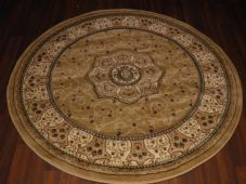 STUNNING 140X140CM CIRCLE RUGS WOVEN BACK CARVED NEW ROYAL RANGE THICK QUALITY